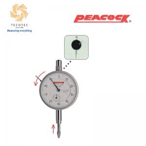 Đồng hồ so tiêu chuẩn Peacock (10mm, 0.01mm), Model: 107-BL
