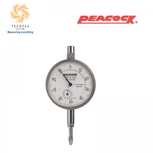 Đồng hồ so tiêu chuẩn Peacock (10mm, 0.01mm), Model: 107-HG