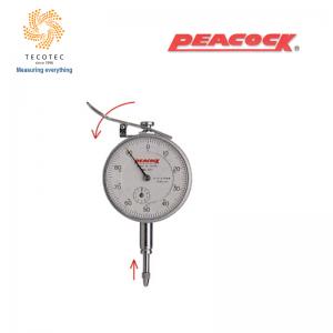 Đồng hồ so tiêu chuẩn Peacock (10mm, 0.01mm), Model: 107-LL