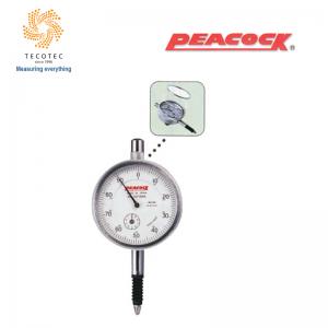 Đồng hồ so tiêu chuẩn Peacock (10mm, 0.01mm), Model: 107-SWA
