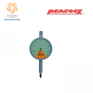 Đồng hồ so chân thẳng Peacock (0.8mm, 0.01 mm), Model: 107Z-XB