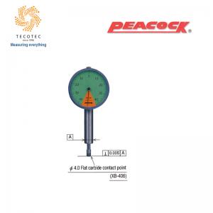 Đồng hồ so chân thẳng Peacock (0.8mm, 0.01 mm), Model: 47Z